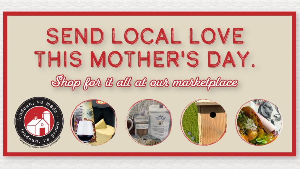 Shows images of products available for purchase from the Loudoun Made Loudoun Grown Marketplace for Mother's Day